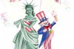Liberty and Uncle Sam